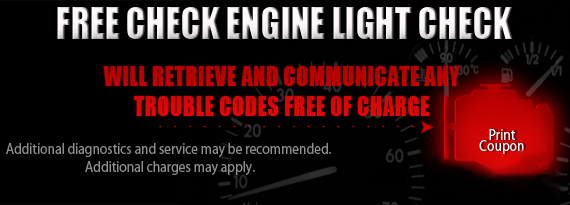 D.W. Campbell Tire U0026 Service   Promotions   FREE Check Engine Light Check
