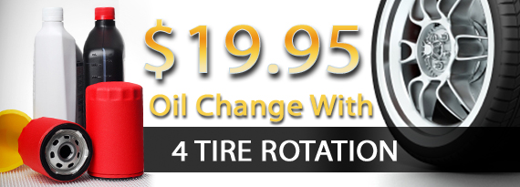 D W Campbell Tire Service Promotions Oil Change With 4 Tire